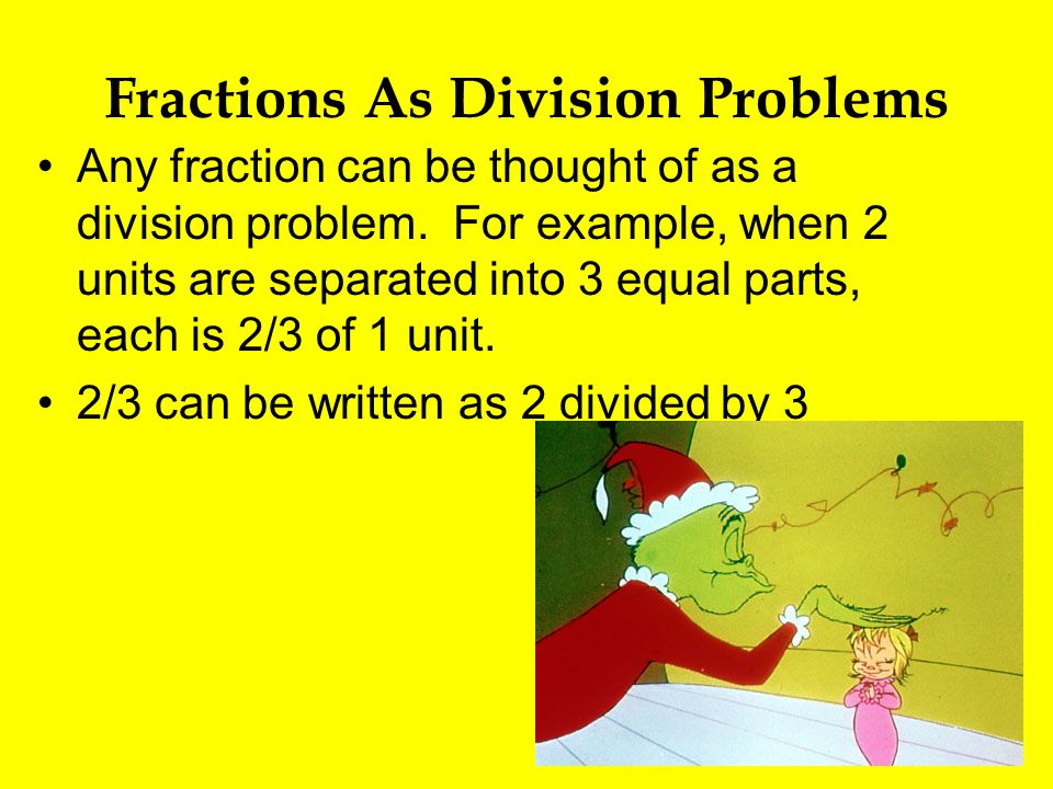 Fractions As Division Problems