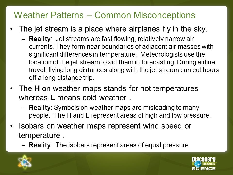 Weather Patterns – Common Misconceptions