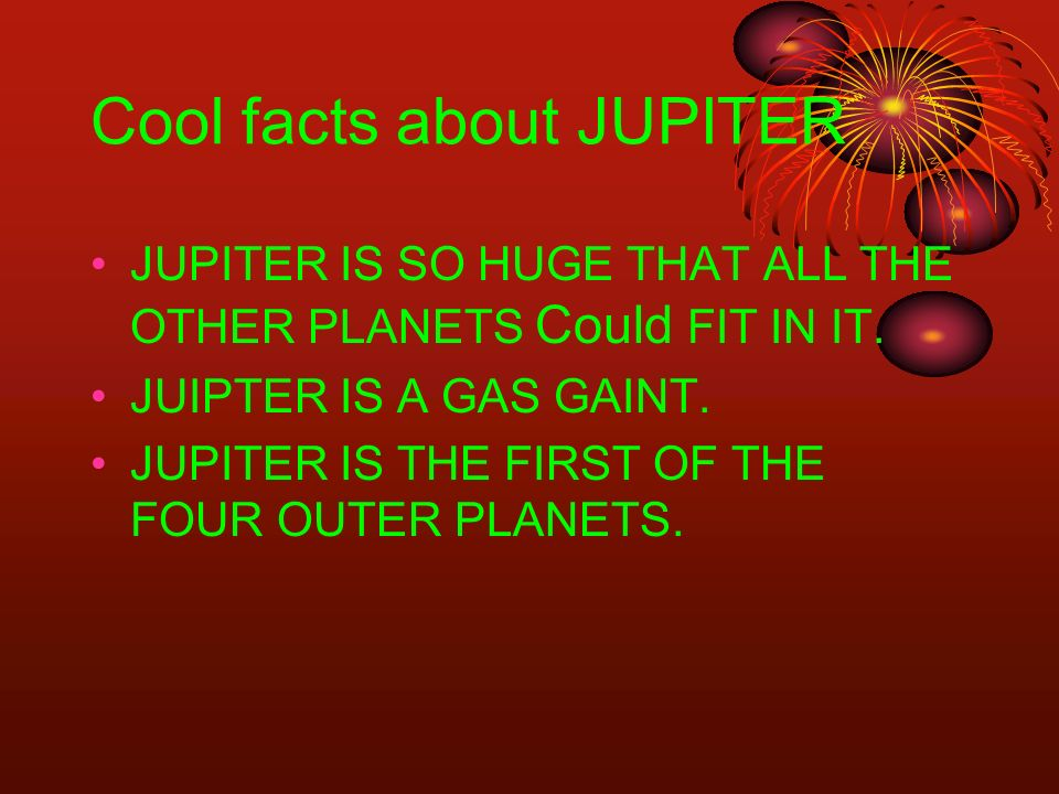 Cool facts about JUPITER