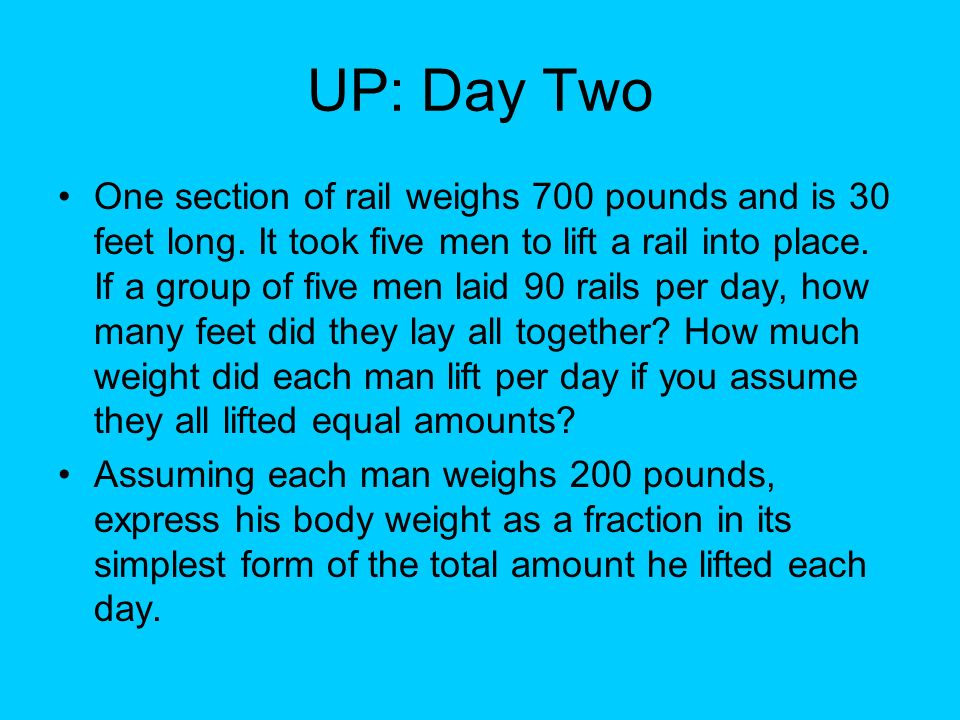 UP: Day Two