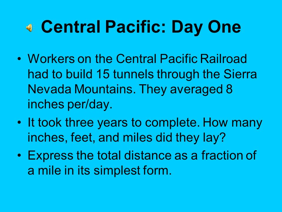 Central Pacific: Day One