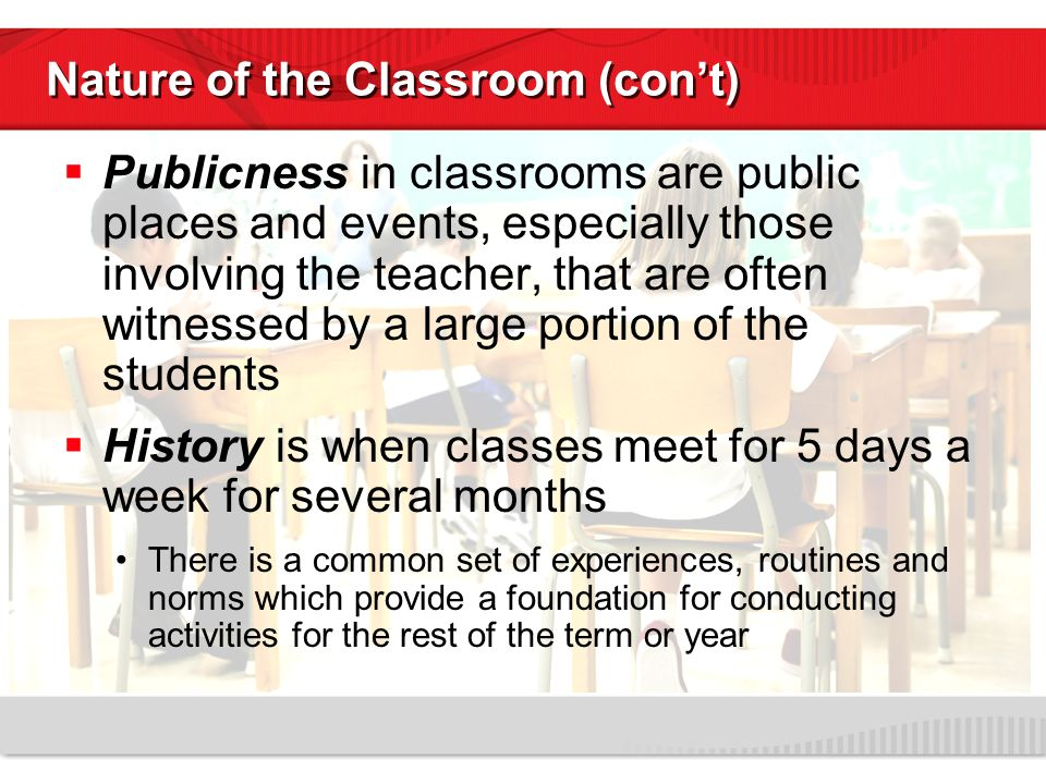 the ecological approach to classroom management Ecological, behavioral, and curricular interventions classroom management strategies and curricular interventions to prevent student problem.