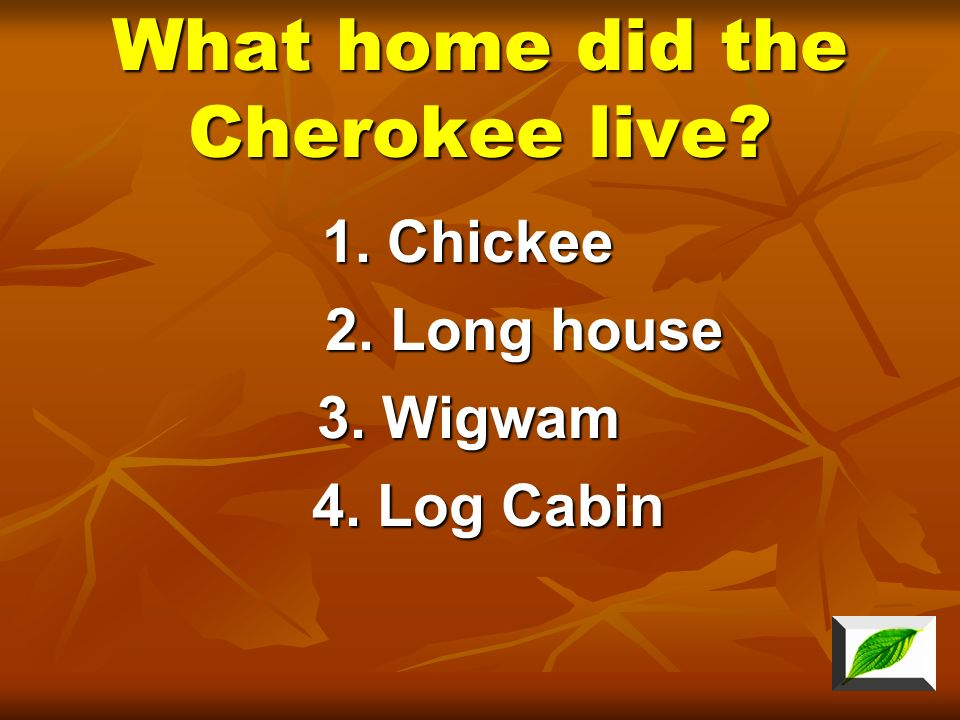 What home did the Cherokee live