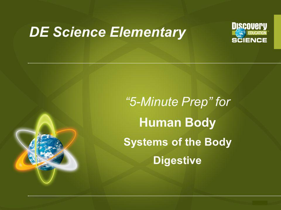 5-Minute Prep for Human Body Systems of the Body Digestive