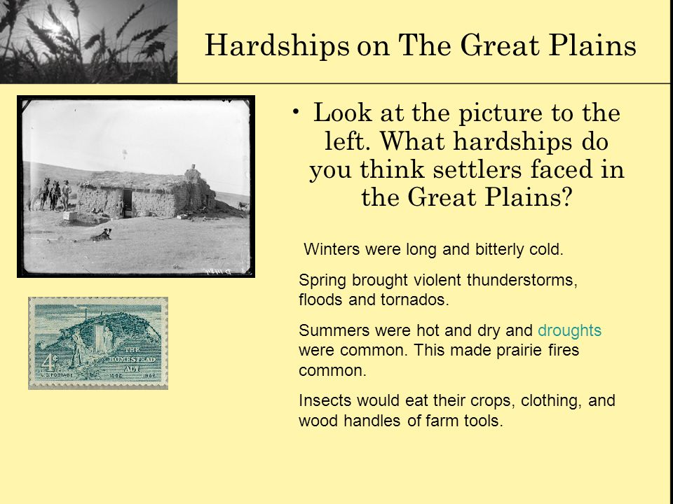 Hardships on The Great Plains