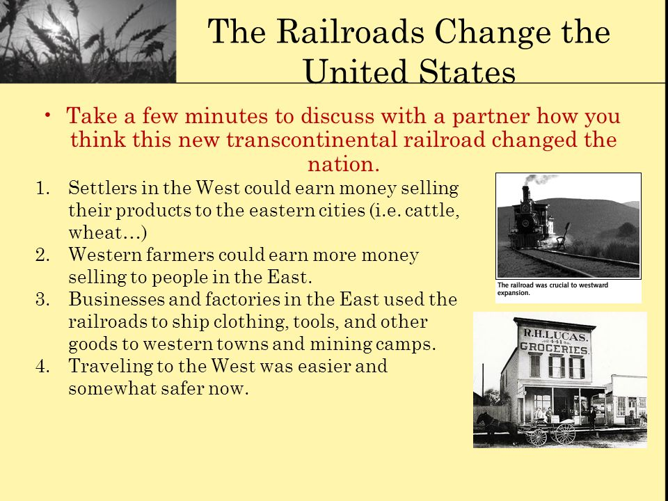 The Railroads Change the United States
