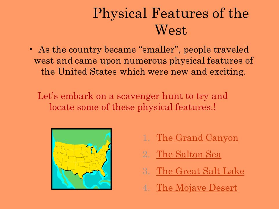 Physical Features of the West