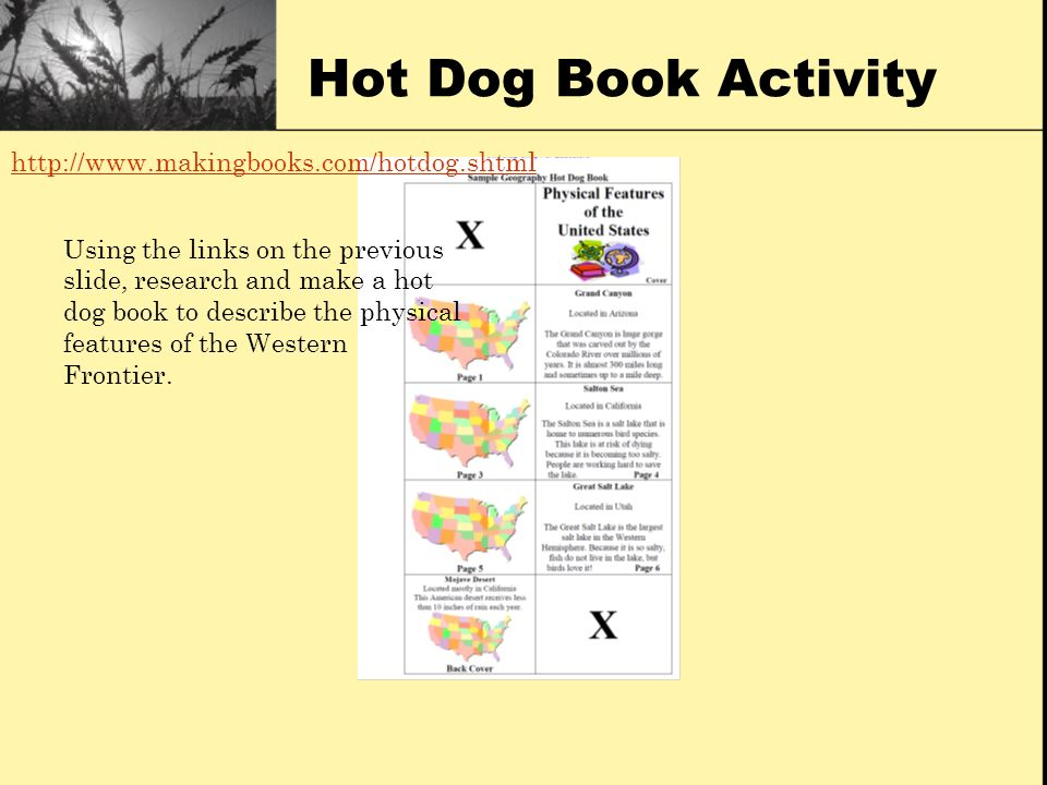 Hot Dog Book Activity http://www.makingbooks.com/hotdog.shtml