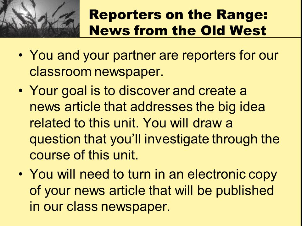 Reporters on the Range: News from the Old West