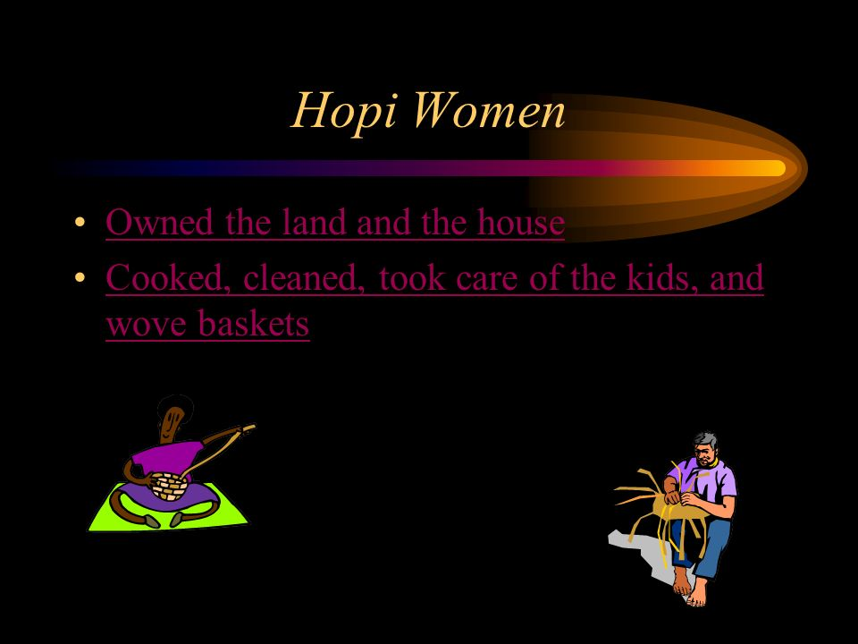 Hopi Women Owned the land and the house