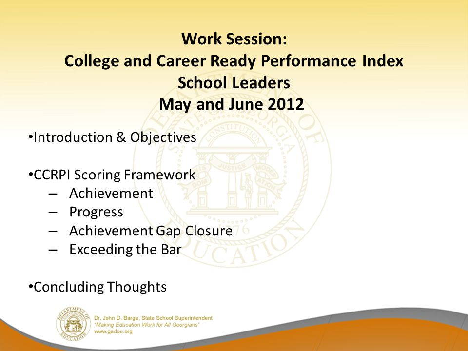 College and Career Ready Performance Index