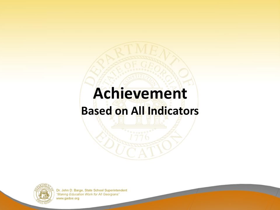 Achievement Based on All Indicators
