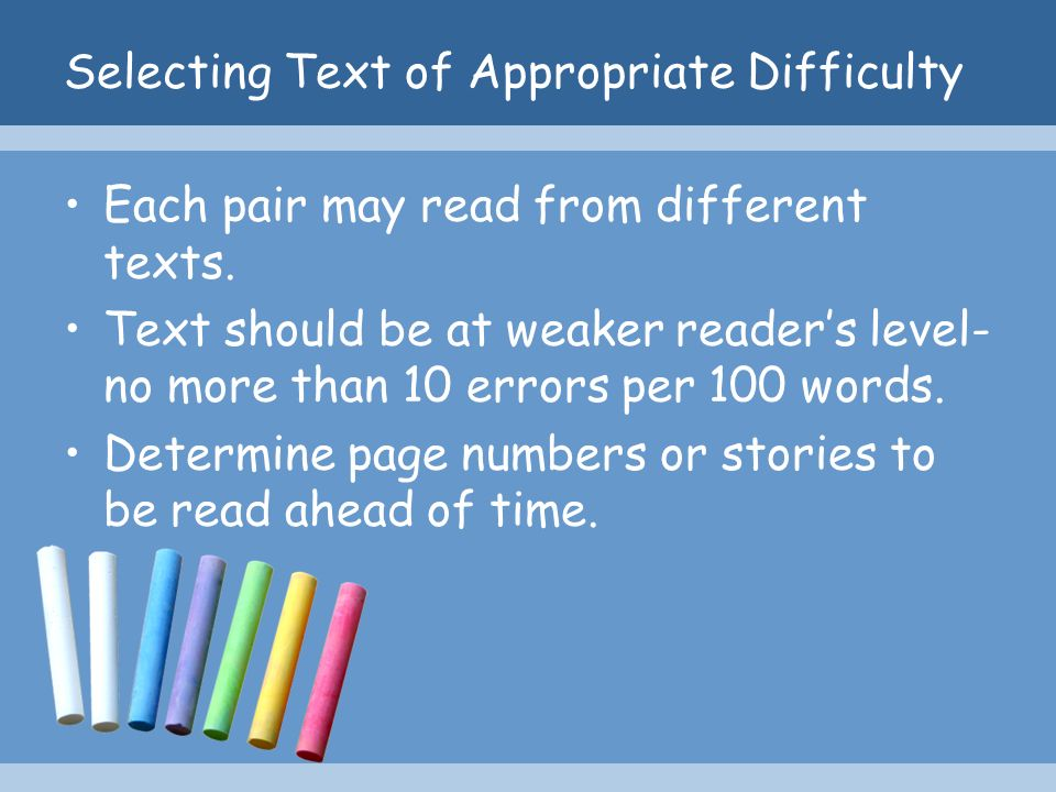 Selecting Text of Appropriate Difficulty