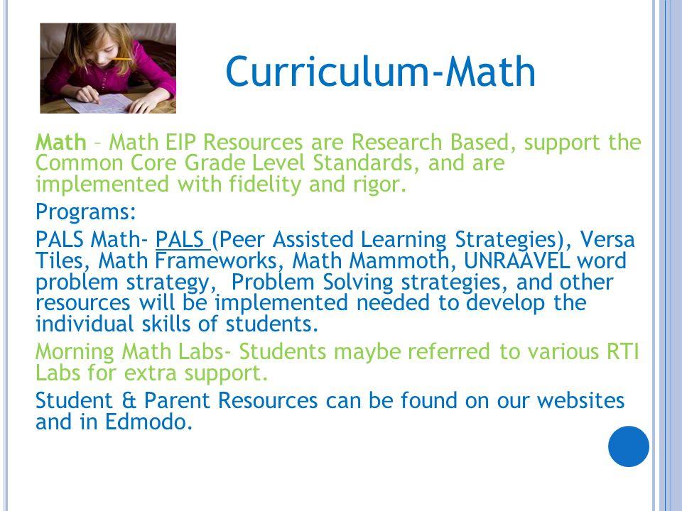 Curriculum-Math