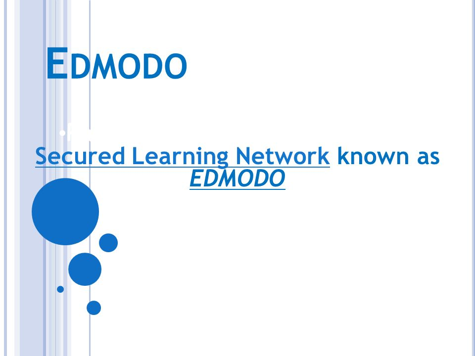 Parent Information Letter for Secured Learning Network known as EDMODO