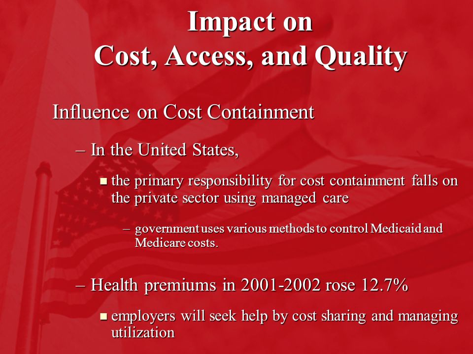 impact of healthcare costs on access to care The effects of rising health care costs on middle-class economic security   during the recession and slow recovery, which reduced both access to employer .
