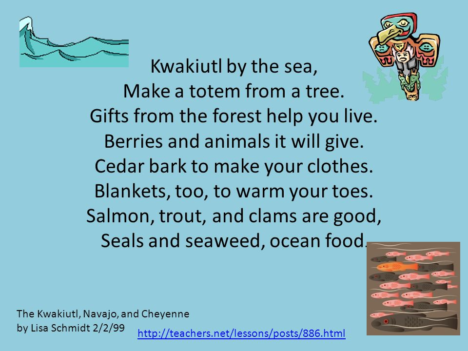 Kwakiutl by the sea, Make a totem from a tree