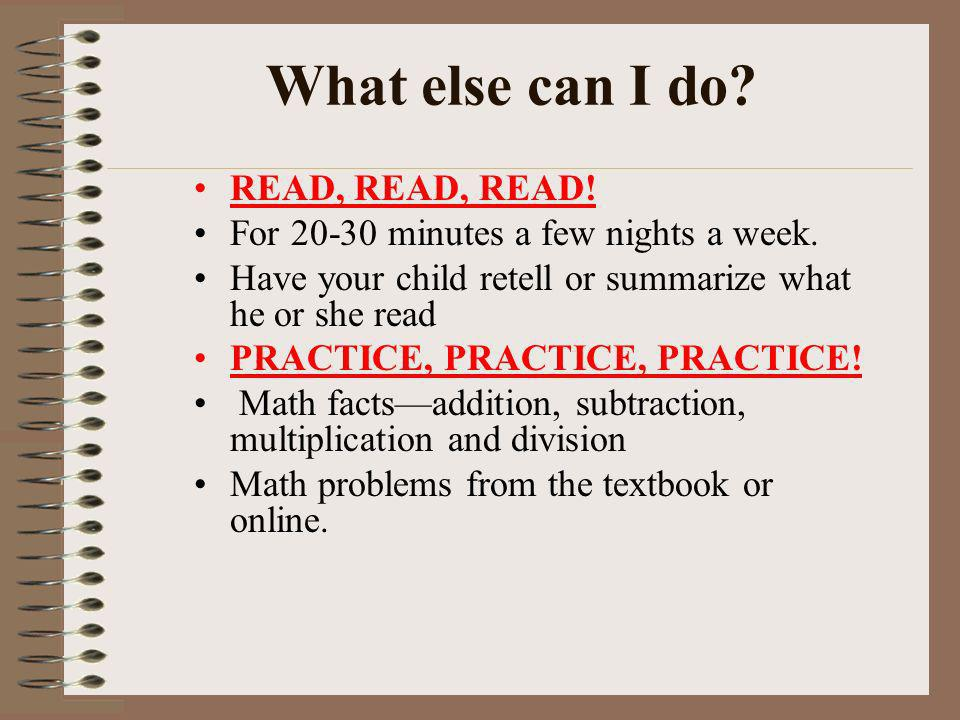 What else can I do READ, READ, READ!
