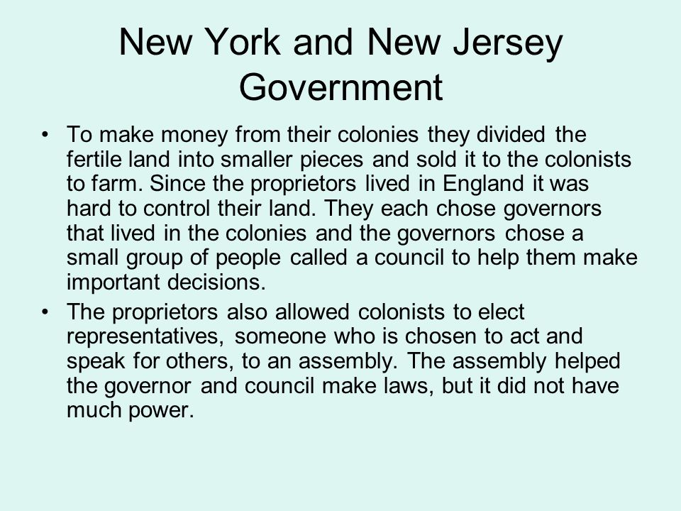 New York and New Jersey Government