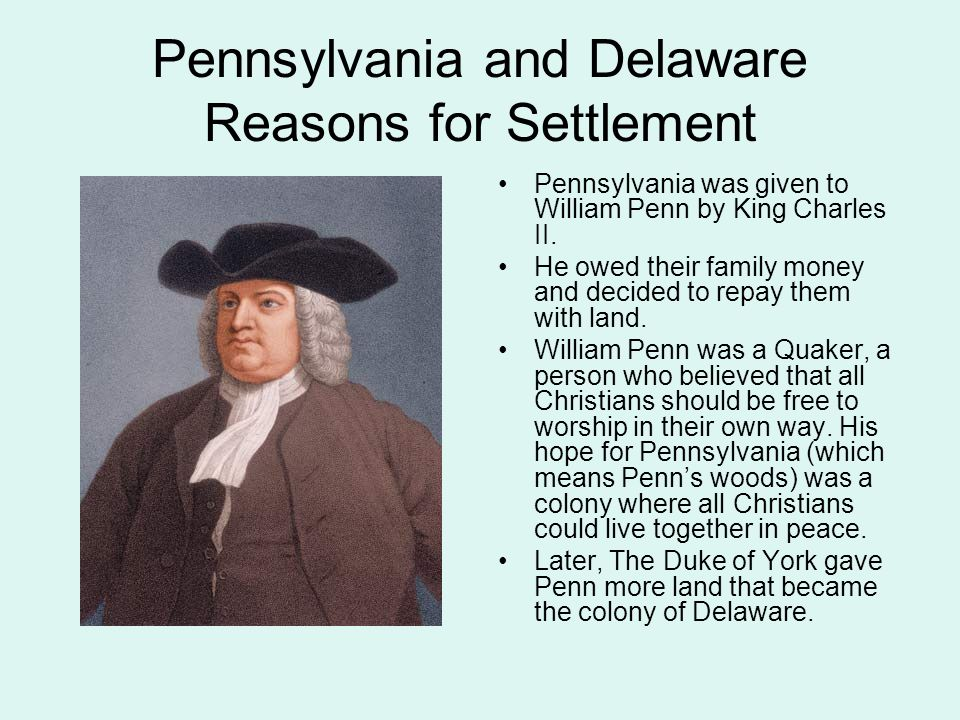 Pennsylvania and Delaware Reasons for Settlement
