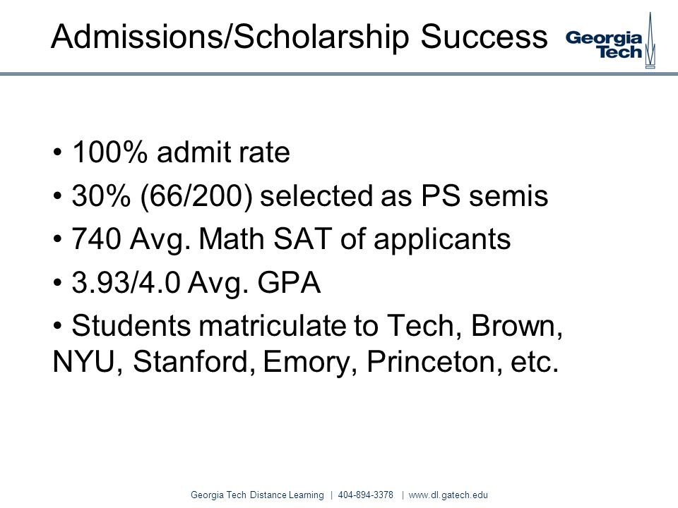 Admissions/Scholarship Success