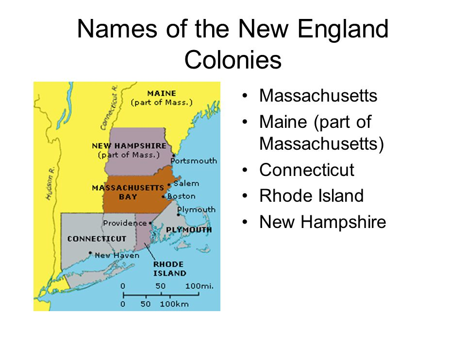 Names of the New England Colonies
