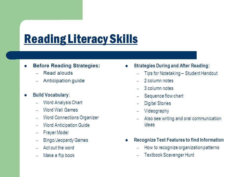 Reading Literacy Skills