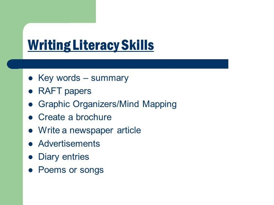 Writing Literacy Skills