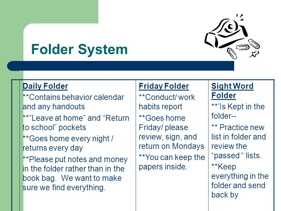 Folder System Daily Folder