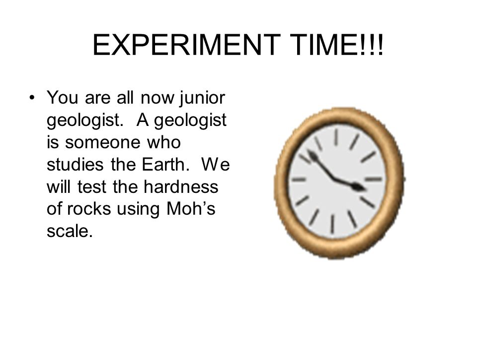 EXPERIMENT TIME!!!