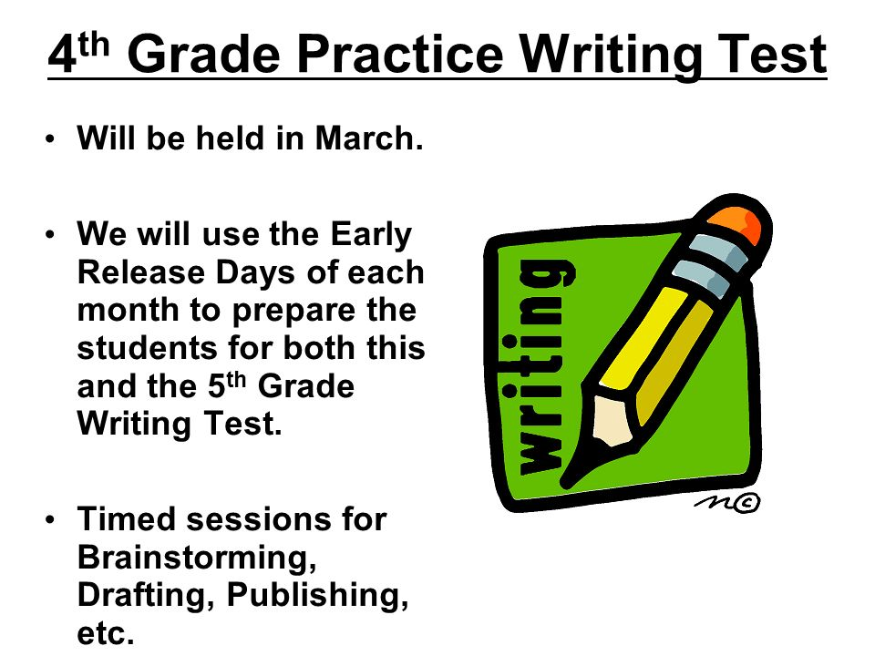 4th Grade Practice Writing Test