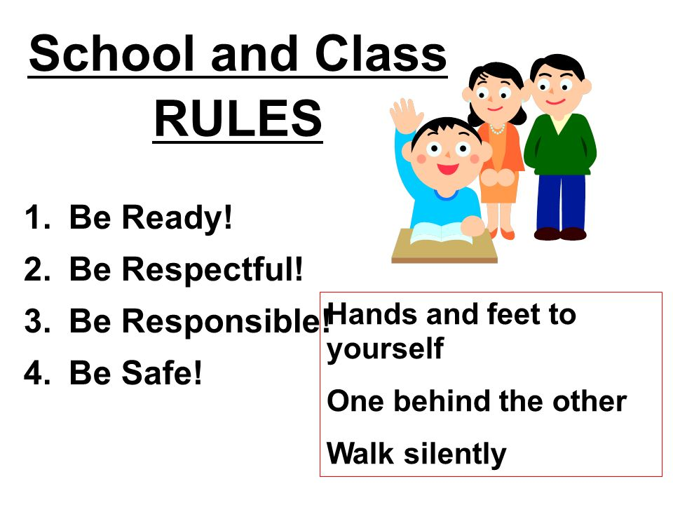 School and Class RULES Be Ready! Be Respectful! Be Responsible!