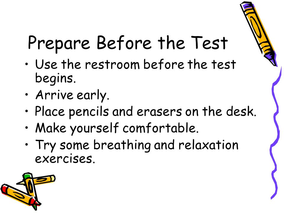 Prepare Before the Test