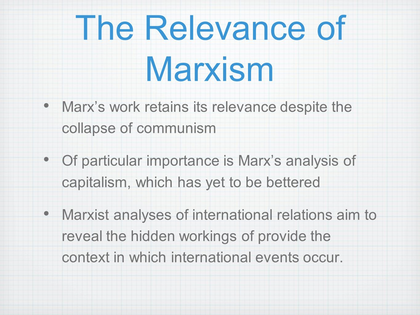 an analysis of karl marxs theory of class