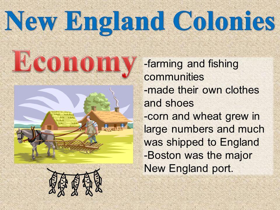 Economy New England Colonies