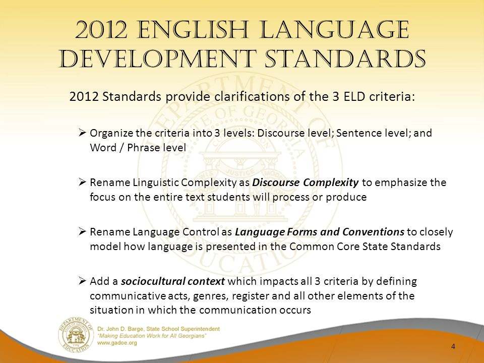 2012 English Language Development Standards