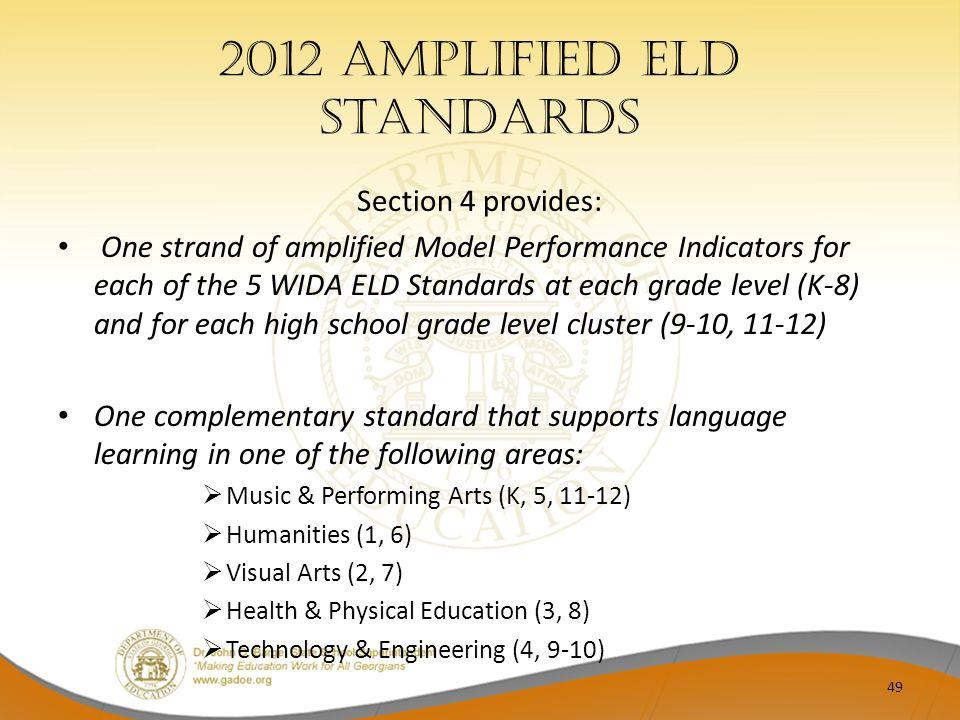 2012 Amplified ELD Standards