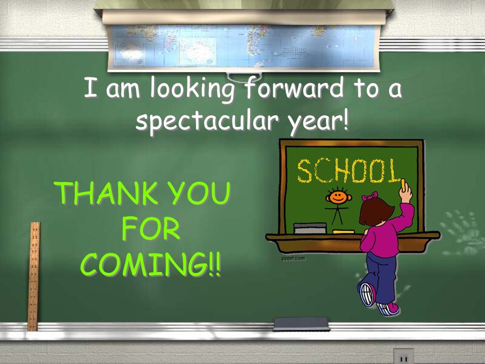 I am looking forward to a spectacular year!