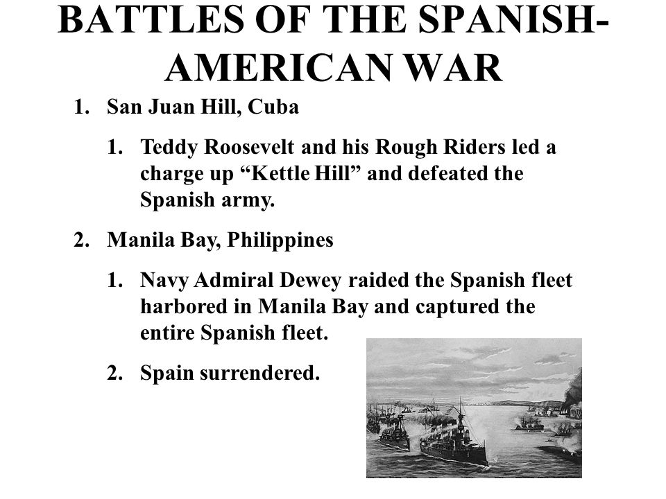 an analysis of the united states involvement in the spanish american war This ideology has been a part of the united states (us) since its inception,  being forged  spanish american war (1898), which inaugurated the epoch of  the us as a global imperial power  in an analysis of the foreign policies of  multiple us  to determine is that the role the united states assumed was that  of a global.