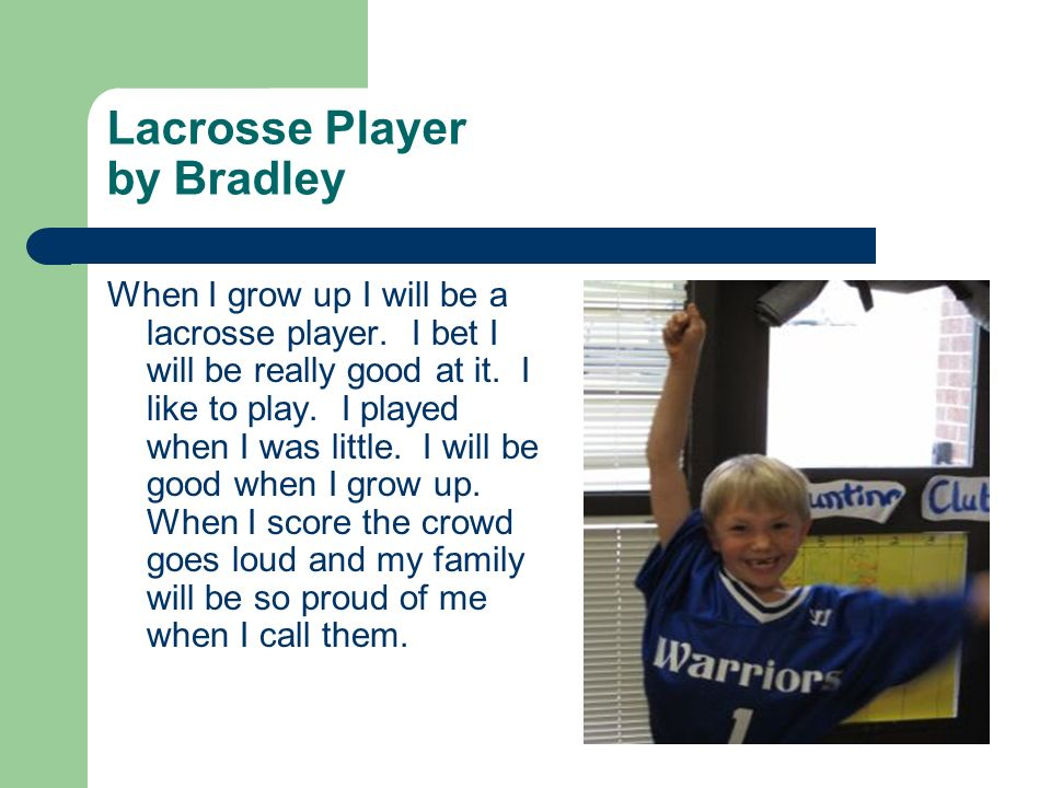 Lacrosse Player by Bradley