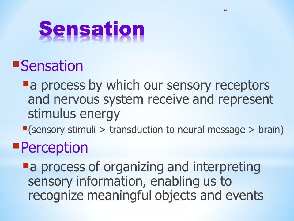 SENSATION AND PERCEPTION - ppt download