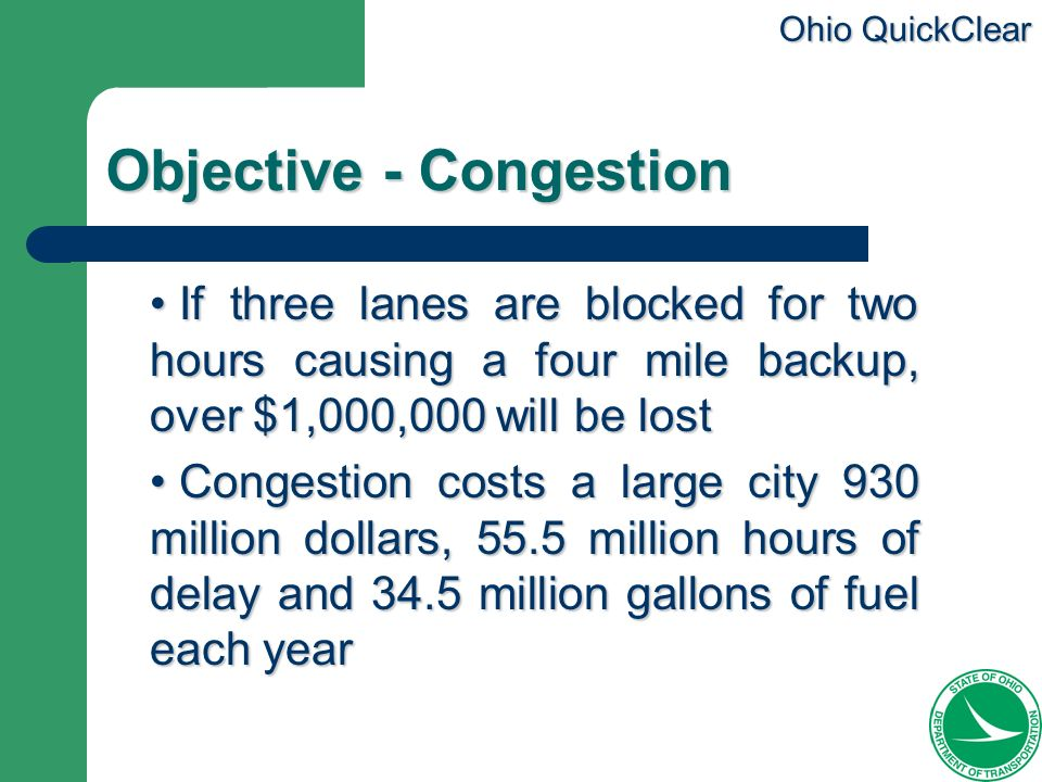 Objective - Congestion