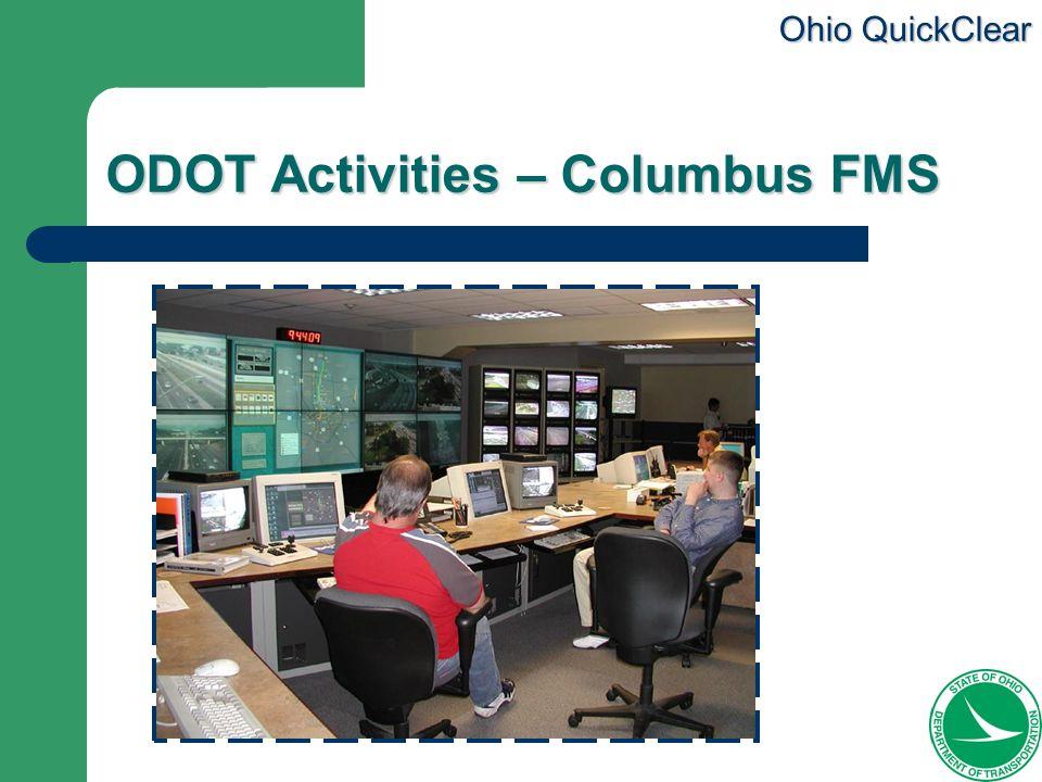 ODOT Activities – Columbus FMS