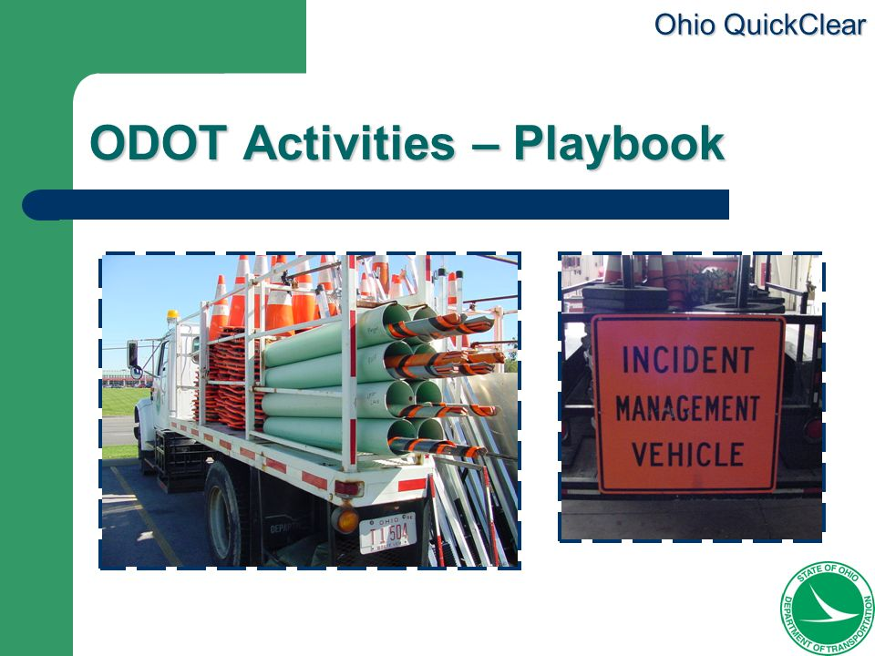 ODOT Activities – Playbook