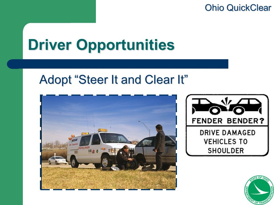 Driver Opportunities Adopt Steer It and Clear It