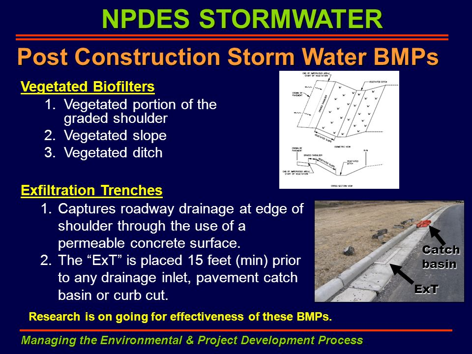 Post Construction Storm Water BMPs