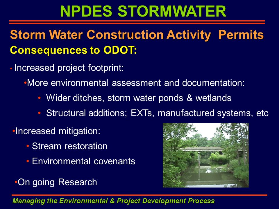 NPDES STORMWATER Storm Water Construction Activity Permits
