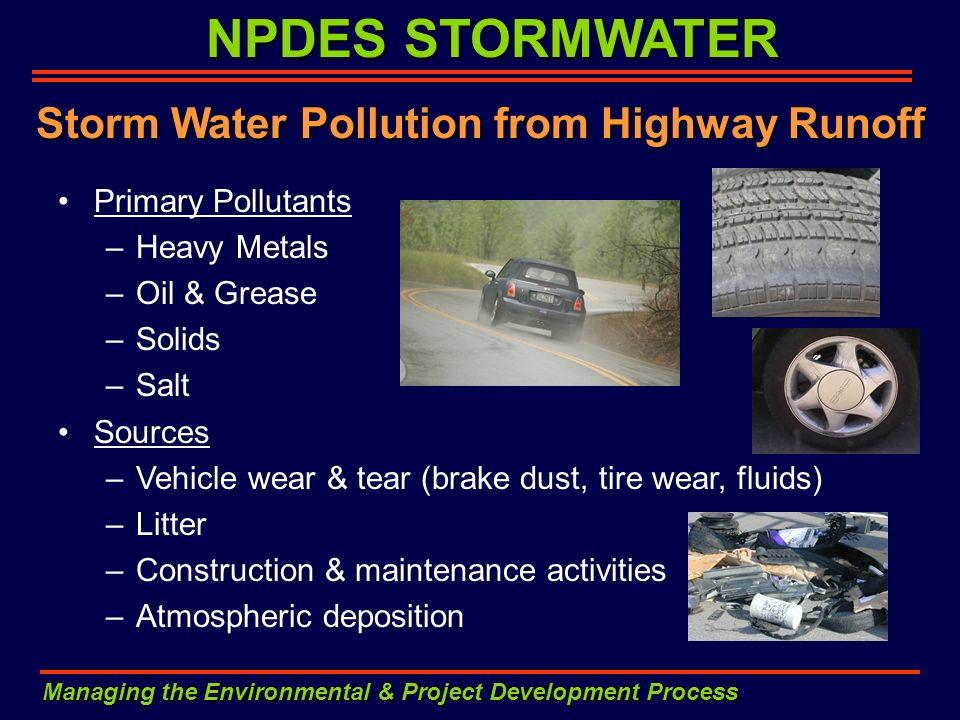 Storm Water Pollution from Highway Runoff