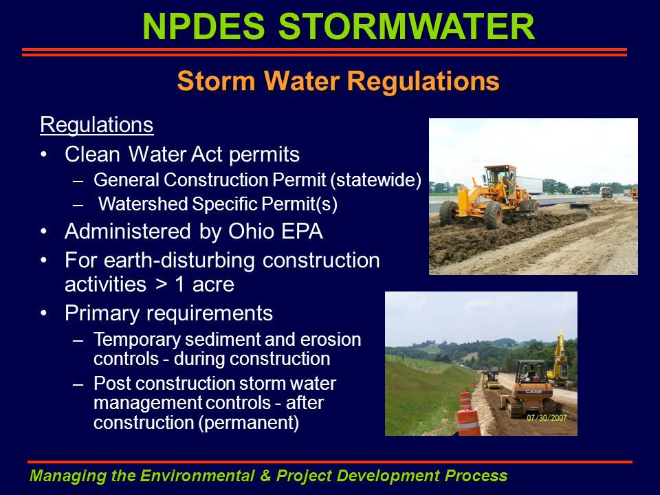 Storm Water Regulations
