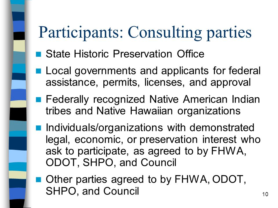 Participants: Consulting parties
